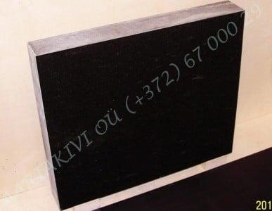 Hauakivi 042 70x60x10cm Poleeritud Saetud Saetud must graniit