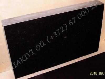 Hauakivi 060 100x60x15cm Poleeritud Saetud Saetud must graniit