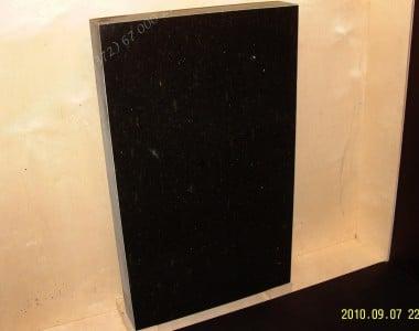 Hauakivi 060 60x100x10cm Poleeritud Saetud Saetud must graniit
