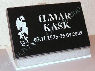 Hauaplaat 0100 40x25x3cm must graniit, pilt-22ristita kiri-3, hobe, betoonist alus
