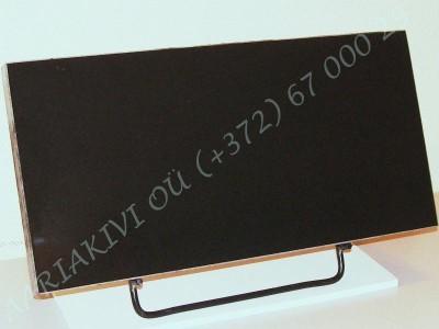 Hauaplaat 0125 50x25x3cm must graniit, metallist alus
