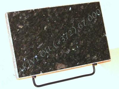 hauaplaat 0100 40x25x3cm roheline parl graniit metallist alus