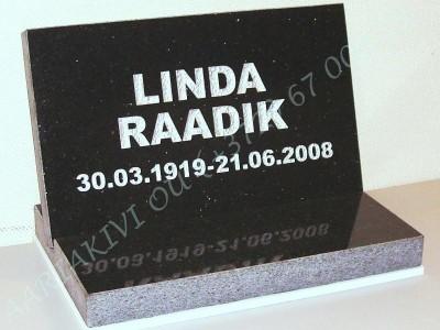 hauaplaat 0100 40x25x3cm tahistaevas graniit kiri-17 hobe graniidist alus