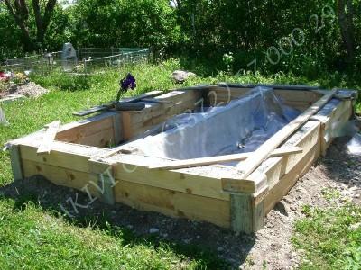 Hauapiire graniidist eriprojekt Paldiski kalmistul 02 vundament valatud