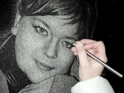 käsitsi portree graveerimine hauakivile